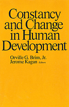 Constancy and change in human development
