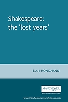 Shakespeare, the lost years