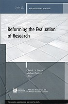 Reforming the evaluation of research