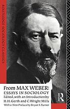 From Max Weber : Essays in sociology