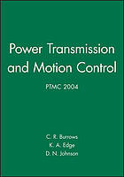 Bath Workshop on Power Transmission and Motion Control : (PTMC 2000)