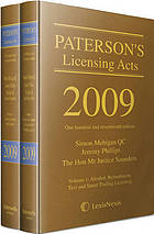 Paterson's licensing acts 2009