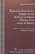 The book of Theseus = Teseida delle nozze d'Emilia