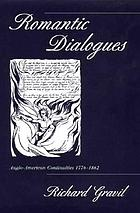 Romantic dialogues : Anglo-American continuities, 1776-1862