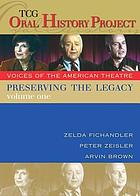 Preserving the legacy voices of the American theatre