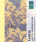 Gorse and its management