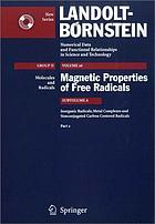 Magnetic properties of free radicals