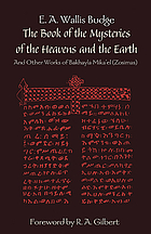 The Book of the mysteries of the heavens and the earth and other works of Bakhayla Mîkâʻêl (Zôsîmâs)