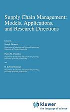 Supply chain management : models, applications, and research directions