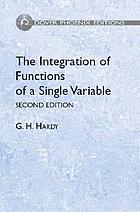 The integration of functions of a single variable