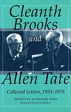 Cleanth Brooks and Allen Tate : collected letters, 1933-1976