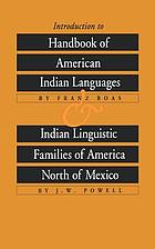Introduction to Handbook of American Indian languages