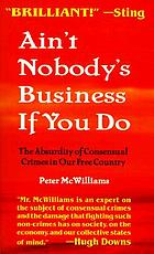 Ain't nobody's business if you do : the absurdity of consensual crimes in a free society