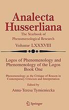 Logos of phenomenology and phenomenology of the logos