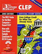 CLEP : official study guide 2003 edition