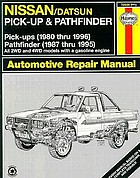 Nissan pick-ups automotive repair manual