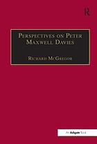 Perspectives on Peter Maxwell Davies