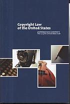 Copyright law of the United States of America : contained in title 17 of the United States Code
