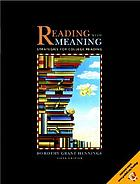 Reading with meaning : strategies for college reading