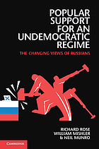 Popular support for an undemocratic regime : the changing views of Russians