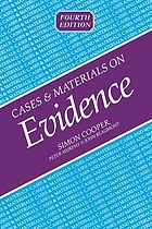 Cases and materials on evidence