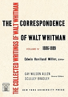 The correspondence of Walt Whitman