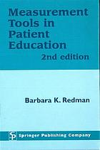 Measurement tools in patient education