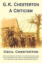 G.K. Chesterton, a criticism
