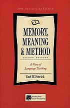 Memory, meaning & method : a view of language teaching