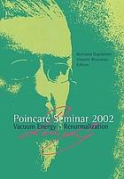 Poincaré Seminar 2002 : vacuum energy-renormalization