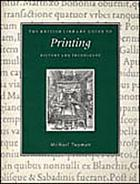 The British Library guide to printing : history and techniques