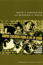 Saving children from a life of crime : early risk factors and effective interventions