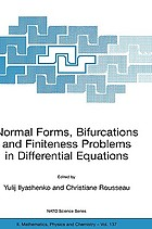 Normal forms, bifurcations, and finiteness problems in differential equations