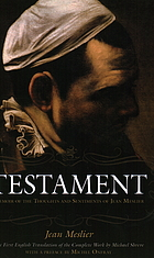 Testament : memoir of the thoughts and sentiments of Jean Meslier