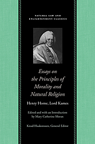 Essays on the principles of morality and natural religion several essays added concerning the proof of a deity