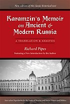 Karamzin's memoir on ancient and modern Russia : a translation and analysis