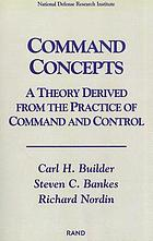 Command concepts : a theory derived from the practice of command and control
