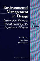 Environmental management in design : lessons from Volvo and Hewlett-Packard for the Department of Defense