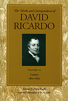 The works and correspondence of David Ricardo / Letters : 1810-1815