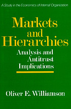 Markets and hierarchies, analysis and antitrust implications : a study in the economics of internal organization