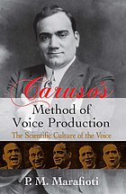 Caruso's method of voice production : the scientific culture of the voice