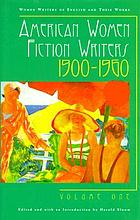 American women fiction writers, 1900-1960