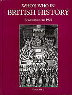 Who's who in British history : beginnings to 1901