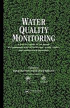 Water quality monitoring a practical guide to the design and implementation of freshwater quality studies and monitoring programmes