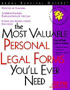 The most valuable personal legal forms you'll ever need
