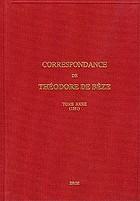 Correspondance de Théodore de Bèze