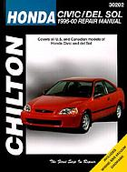 Chilton's Honda Civic and del Sol 1996-00 repair manual