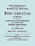 Versuch einer Anweisung die flute traversière zu spielen. Faksimile-Nachdruck der 3. Aufl., Berlin, 1789