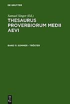 Thesaurus proverbiorum medii aevi = Lexikon der Sprichwörter des romanisch-germanischen Mittelalters