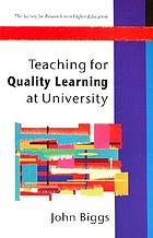 Teaching for quality learning at university : what the student does